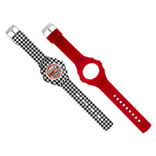 JoyJoy! Houndstooth/Lipstick Combo, Interchangeable Silicone Watch JJ-4046-4076