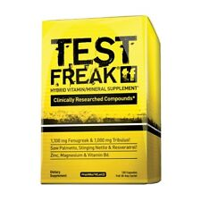 PharmaFreak TEST FREAK Testosterone Booster BUILD MUSCLE 120 capsules Natural
