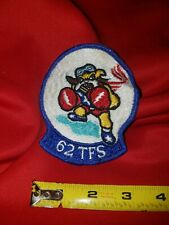 USAF Patch 62nd Tactical Fighter TFS Boxing Dog Military