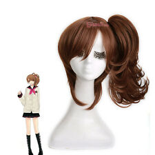 Brothers Conflict Ema Asahina Hinata Brown Long Cosplay Wigs Clip on Ponytail