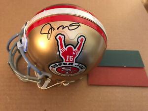 Joe Montana Signed Authentic 49ers Mini Helmet Autographed Auto UDA not PSA Logo
