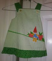 Vtg Slyvia Whyte  Adorable Vintage  Baby Girls Gnome Jumper  Dress  Sz M Trolls