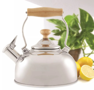 Chantal 1.8qt Woodbury Teakettle Polished Stainless Steel Kettle Whistling