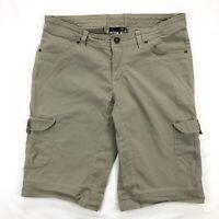 Kuhl Womens 12 Cargo Patina Dye Beige Outdoor Hiking Camping Shorts