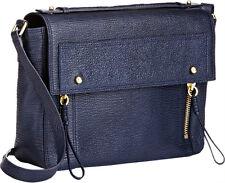 3.1 Phillip Lim Pashli Leather Messenger Satchel Bag in Ink Blue