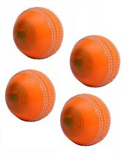 Pack Of 4 Spin Orange Cricket Ball Pvc Poly Soft Light For Training & Practice
