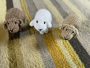 Hand Knitted Nativity Sheep