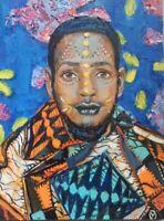 Oil painting MODERN AFRICAN MAN MATISSE STYLE ORIGINAL