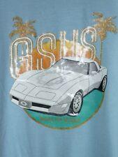 GSUS sindustries Corvette T-Shirt hellblau neuwertig glitzer bling bling XL