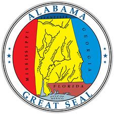 "Alabama State Seal USA Car Bumper Window Locker Vinyl Sticker Decal 4.6""X4.6"""