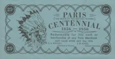 Vintage Paris Centennial (1856 - 1956)   25 cents, 1956, POLYMER note