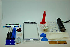 Samsung S7 Edge Schwarz Frontscheibe Reparatur-Set, Bildschirm Glas, Kleber