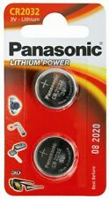 Panasonic Pack of 2 Lithium Power 3v CR2032 Coin Cell Batteries - New