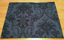 New ListingSouthern Living Amadea Standard Pillow Sham (1) Blue Black Floral Scroll Cotton