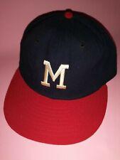 Vintage Milwaukee Braves New Era Fitted Cap 7 3/4