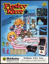 FRISKY TOM / Nichibutsu__Original 1982 Trade print AD / Arcade Game Promo__Flyer