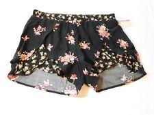 Full Tilt Junior's Women's Casual Shorts floral black Size XS xsmall NWT