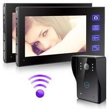 "2.4G Wireless 7""TFT Video Doorbell Intercom Bell Phone+Outdoor IR Camera System"
