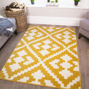 Moroccan Mustard Rug | Cheap Geometric Rugs | Quality & Cheap Living Room Mats