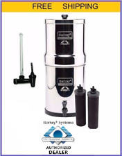 "Royal Berkey Water Filter Purify w 2 Black Filters plus 10"" Water Level Spigot"