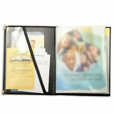Black Leatherette Brochure + Watchtower Display Folio Jehovah's Witnesses - O9