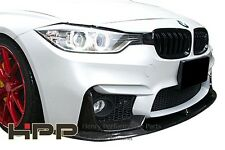 For BMW F30 M3 look body kit Carbon Fiber Front Lip Spoiler P style