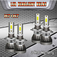 Mini LED Headlight Kit H7+H7 High Low Beam 6000K for Hyundai Veloster 2013-2018