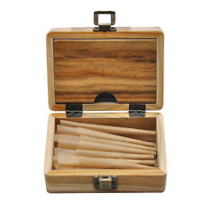 HORNET 32X 1 1/4 Natural Rolling Paper Cones With Wood Tray Container Stash Box