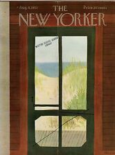 1953 New Yorker August 8 - The Screen door to the Beach - Edna Eicke