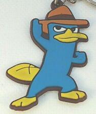 "2"" Perry the Platypus Secret Agent Disney Channel PVC Keychain Key Chain Lot USA"