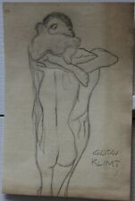 Pencil drawing signed GUSTAV KLIMT