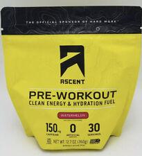 Ascent Pre-Workout Clean Energy & Hydration Fuel Watermelon 12.7 Oz Exp 07/21