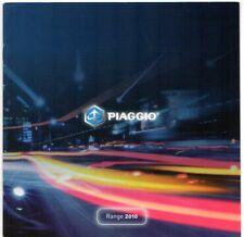 Piaggio Scooters 2010 UK Market Sales Brochure