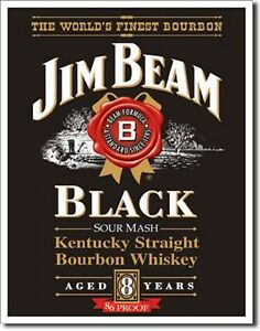 Jim Beam Black Whiskey Kentucky  Metal Sign Tin New Vintage Style USA #1066