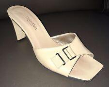 Calvin Klein 'ANDL-LEA' High Heel Kid Leather Slide 813738 $390.00 Beige 7M