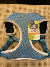 Top Paw Comfort Harness - Blue Geometric Design - Reflective - S, M, L, XL