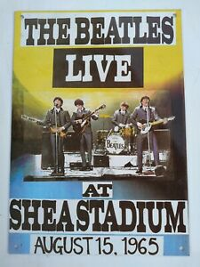 THE BEATLES LIVE at Shea Stadium August 15, 1965 Retro Look Metal Sign