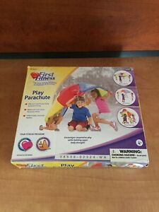First Fitness Play Parachute for Kids 6 foot 8 Handles