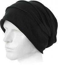 Siggi Winter Black Slouchy Beanie Chemo Sleep Cap Cotton Cancer Patient Hats