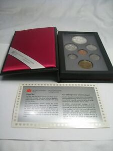 1991 CANADA Double Dollar Proof Set (Commem Dollar Silver) w/ Box & COA.  #13