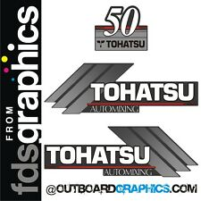 TOHATSU 50hp automixing hors-bord Moteur Autocollants/sticker kit