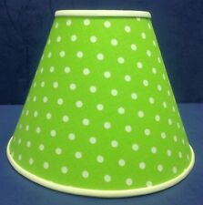 Lime Green White Dots Handmade Lamp Shade Lampshade