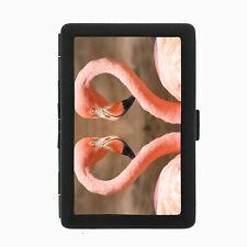 Flamingo Cigarette Case D3 Metal Wallet Pink Plummage Tropical Exotic Bird