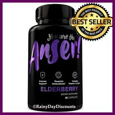 EX STRENGTH Elderberry Sambucus Supplement With Zinc, Vitamin C Immune Support