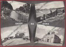 SASSARI OLBIA 14 SALUTI da... NAVE LAZIO - SHIP Cartolina viagg. 1955 REAL PHOTO