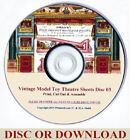 MAKE A VINTAGE PAPER MODEL TOY THEATRE - RESTORED ORIGINAL SHEETS VOLS 1-3