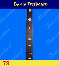 Free Shipping, Banjo Part - Slotted Fretboard w/MOP Art Inlay (G-79)