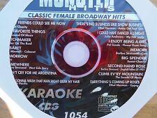 Monster Hits Karaoke CD+G vol-1054/ Ethel Merman,Evita,Barbra Streisand,+ more!!