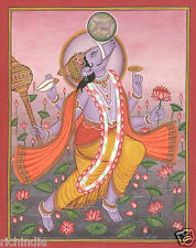 Vadic God Varaha  Vishnu Avatar  Miniature Painting Hand Painted Hindu Artwork