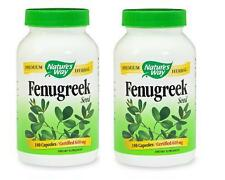 2 x Nature's Way, Fenugreek Seed, 610 mg (180 caps)